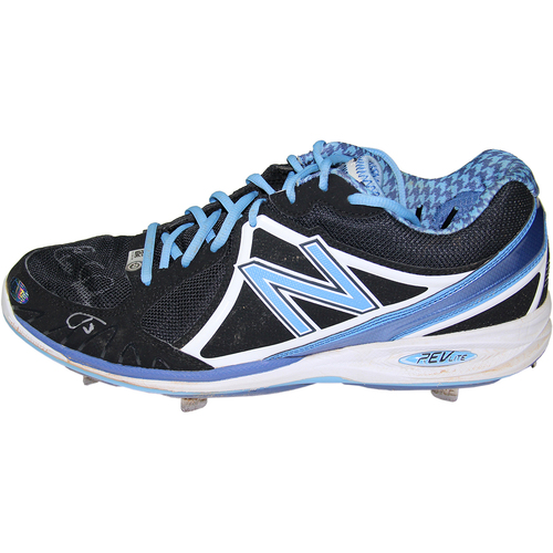 Photo of Evan Longoria Signed Game-Used Left Cleat Used September 11, 2014 (MLB Auth)