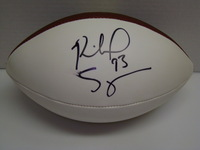 PATRIOTS - RICHARD SEYMOUR SIGNED PANEL BALL (SLIGHT SMUDGE)