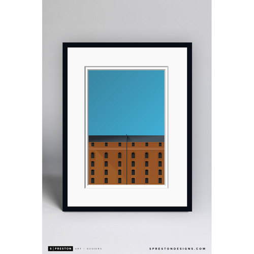 Photo of Minimalist Camden Yards Framed Gilcée Print - Baltimore Orioles