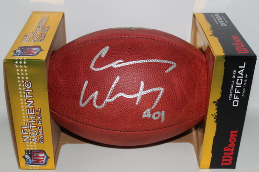 NFL - EAGLES CARSON WENTZ SIGNED AUTHENTIC FOOTBALL