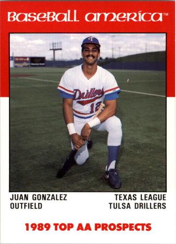 Photo of 1989 Baseball America AA Prospects Best #AA26 Juan Gonzalez