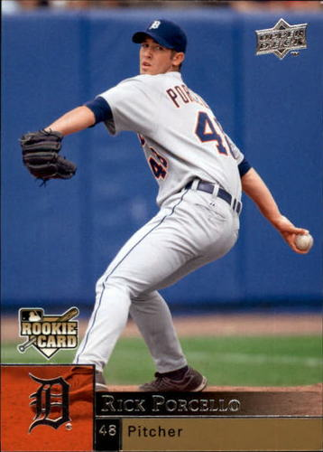 Photo of 2009 Upper Deck #945 Rick Porcello Rookie Card -- Red Sox post-season