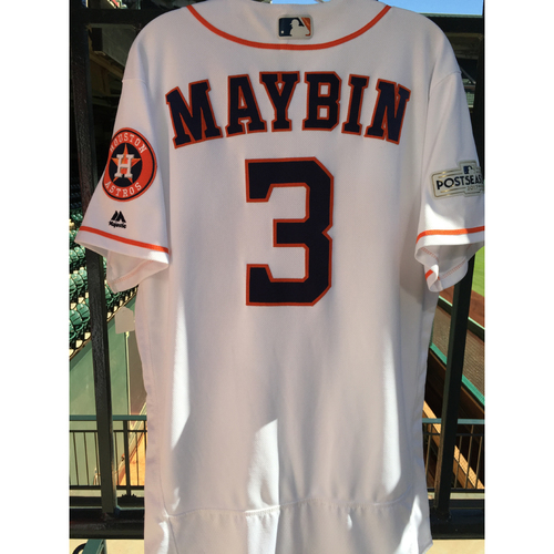 Photo of ALCS Game 6 Cameron Maybin Game-Used Home Jersey