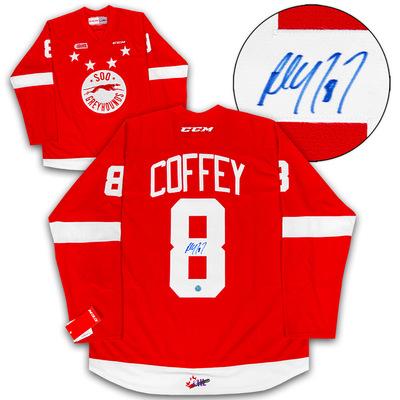 Paul Coffey Sault Ste. Greyhounds Autographed CHL CCM Premier Hockey Jersey
