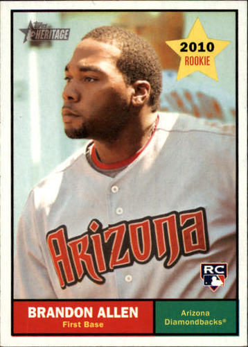 Photo of 2010 Topps Heritage #362 Brandon Allen (RC)