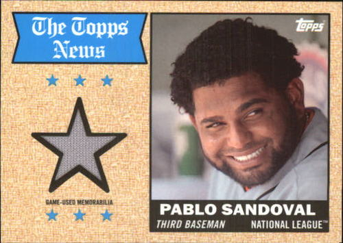 Photo of 2014 Topps Archives Relics #68TRPS Pablo Sandoval