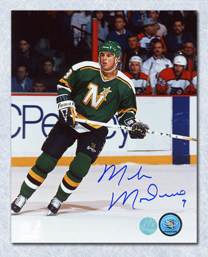 Mike Modano Minnesota North Stars Autographed Game Action 8x10 Photo