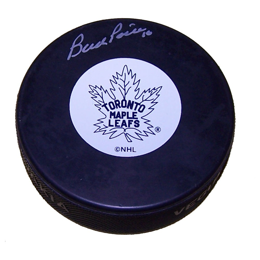 Bud Poile (deceased) Autographed Toronto Maple Leafs Puck