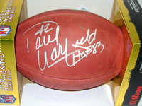 HOF - BROWNS PAUL WARFIELD SIGNED AUTHENTIC FOOTBALL