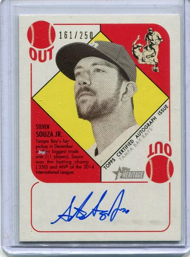 Photo of 2015 Topps Heritage '51 Collection Autographs  Steven Souza Jr. 161/250