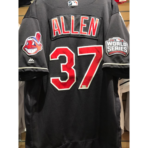Photo of Cody Allen Game-Used Jersey, 2016 World Series vs. Chicago Cubs - GAME 7
