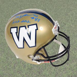 Milt Stegall Winnipeg Blue Bombers Autographed Full Size CFL Football Helmet