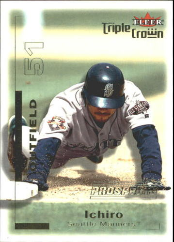 Photo of 2001 Fleer Triple Crown #306 Ichiro Suzuki 0310 /2999 Rookie Card