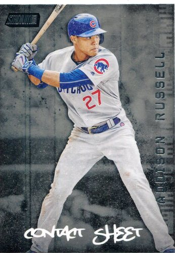 Photo of 2017 Stadium Club Contact Sheet #CSAR Addison Russell -- NLCS roster