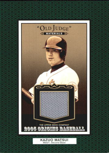 Photo of 2005 Origins Old Judge Materials Jersey #KM Kazuo Matsui