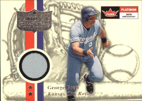 Photo of 2001 Fleer Platinum National Patch Time #7 George Brett S1