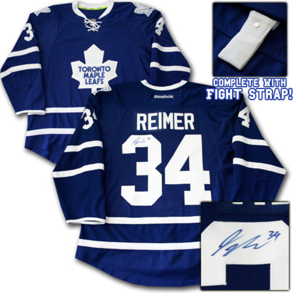 James Reimer Autographed Toronto Maple Leafs Authentic Pro Jersey