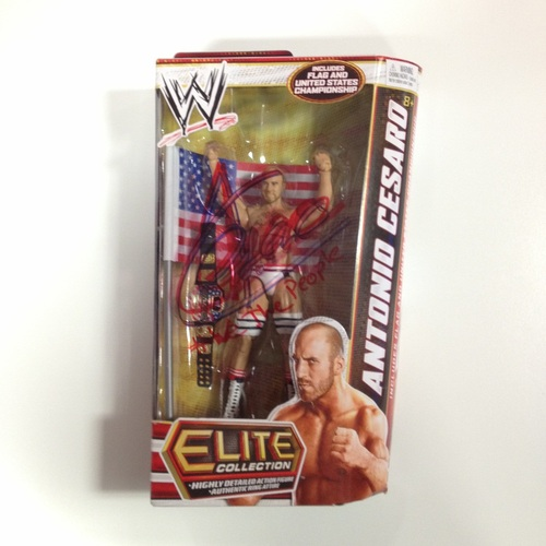SIGNED Antonio Cesaro Mattel Elite Series 23 Figure