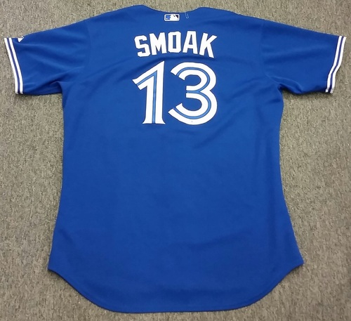 Photo of Authenticated Game Used 2015 AL East Clinching game; September 30, 2015 - Justin Smoak