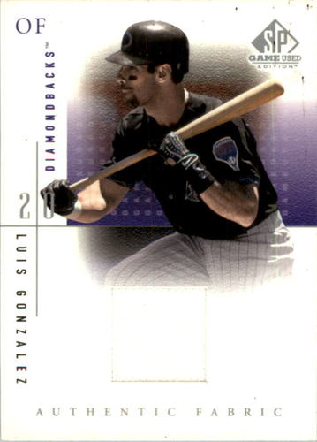 Photo of 2001 SP Game Used Edition Authentic Fabric #LG Luis Gonzalez