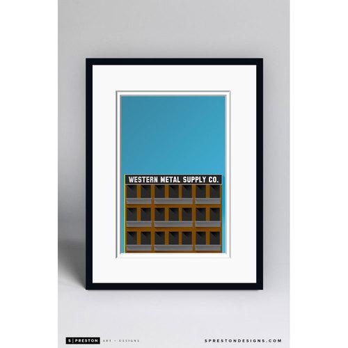 Photo of Minimalist Petco Park Framed Gilcée Print - San Diego Padres
