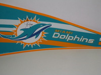 DOLPHINS - GREG JENNINGS SIGNED DOLPHINS PREMIUM PENNANT