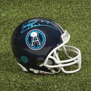Joe Theismann Toronto Argonauts Autographed CFL Football Mini-Helmet