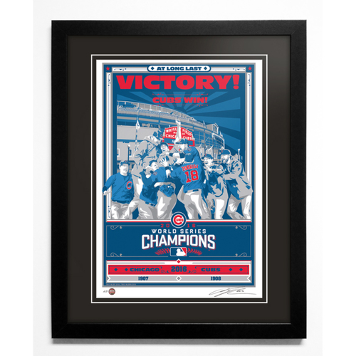Photo of 2016 Chicago Cubs World Series Champions Handmade Serigraph, Artist Proof, Signed by Artist & Framed