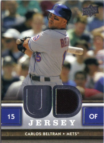 Photo of 2008 Upper Deck UD Game Materials #CB Carlos Beltran
