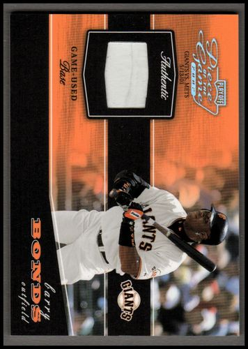 Photo of 2002 Playoff Piece of the Game Materials Silver #8 Barry Bonds Base