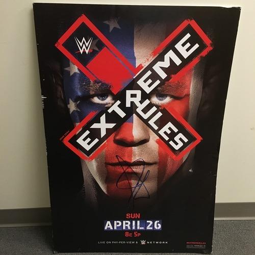 Photo of John Cena SIGNED Framed Foam Extreme Rules 2015 Poster