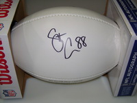 PATRIOTS - SCOTT CHANDLER SIGNED PANEL BALL W/ PATRIOTS LOGO