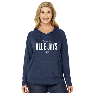 Toronto Blue Jays Women's Plus Size Multi Count Hoody Navy by Soft As A Grape