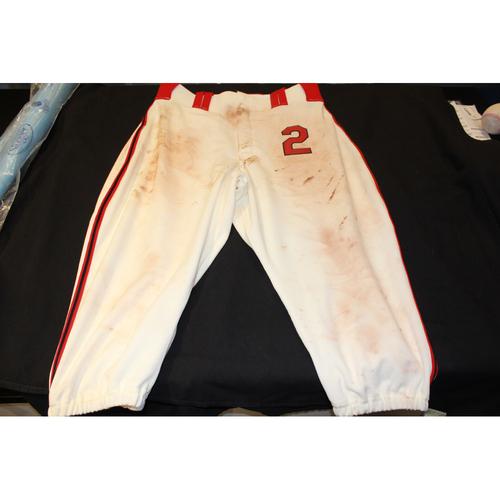 Photo of Alcides Escobar Game-Used Kansas City Monarchs Pants (5/7/17) - 33-45-19