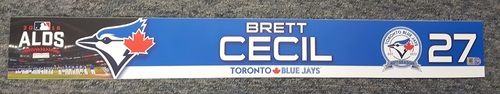 Photo of Authenticated Team-Issued 2016 ALDS Locker Name Plate - #27 Brett Cecil