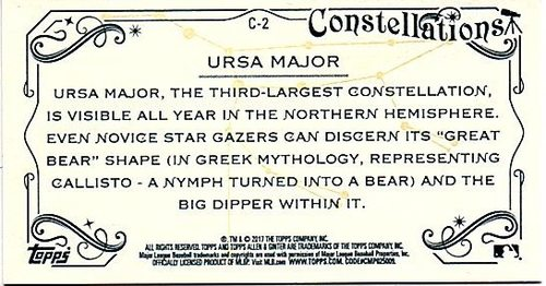 Photo of 2017 Topps Allen and Ginter Mini Constellations #C2 Ursa Major
