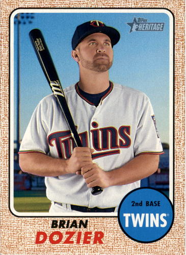 Photo of 2017 Topps Heritage #465 Brian Dozier  -- Twins post-season