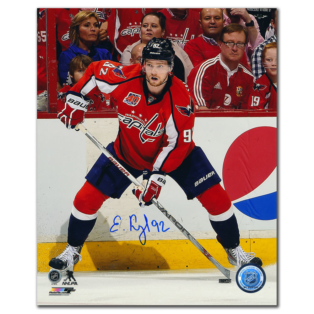 Evgeny Kuznetsov Washington Capitals ACTION Autographed 8x10