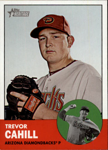 Photo of 2012 Topps Heritage #376 Trevor Cahill