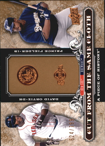 Photo of 2008 UD A Piece of History Cut From the Same Cloth #OF David Ortiz/Prince Fielder