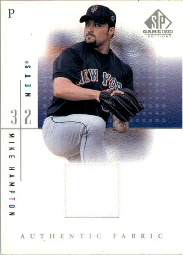 Photo of 2001 SP Game Used Edition Authentic Fabric #MH Mike Hampton