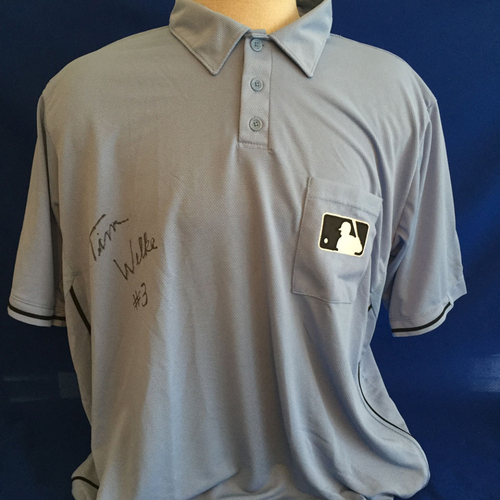 Photo of UMPS CARE AUCTION: Tim Welke Signed Umpire Jersey Size 2XL