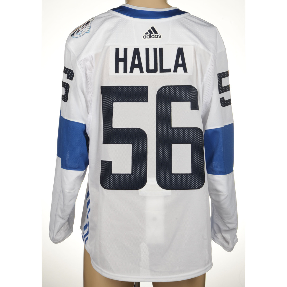 Erik Haula Minnesota Wild Player-Issued 2016 World Cup of Hockey Team Finland Jersey