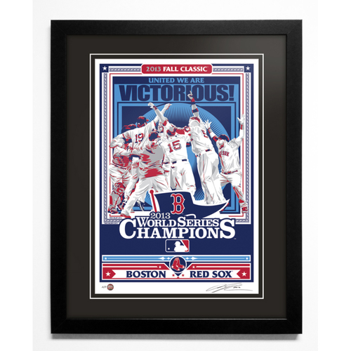Photo of 2013 Boston Red Sox World Series Champions Handmade Serigraph, Artist Proof, Signed by Artist & Framed