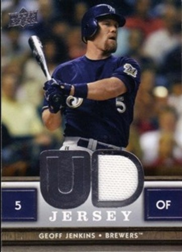 Photo of 2008 Upper Deck UD Game Materials #GJ Geoff Jenkins