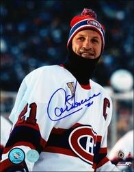 Guy Carbonneau Montreal Canadiens Autographed 2001 Heritage Classic 8x10 Photo