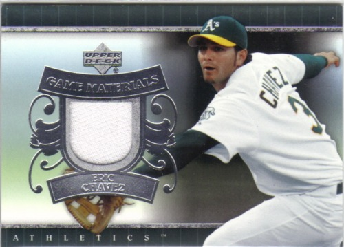 Photo of 2007 Upper Deck UD Game Materials #EC Eric Chavez Jersey