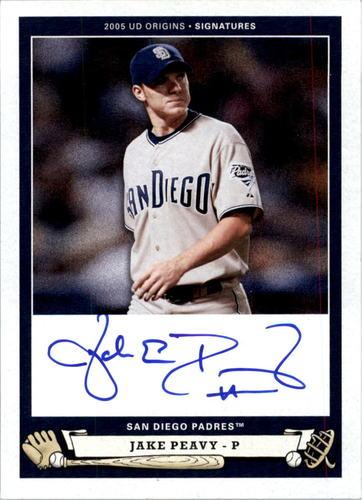 Photo of 2005 Origins Signatures #PE1 Jake Peavy T3