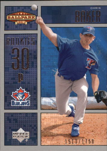 Photo of 2002 Upper Deck Ballpark Idols #205 Chris Baker ROO RC