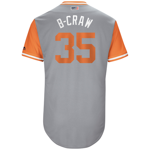"Photo of Brandon ""B-Craw"" Crawford San Francisco Giants Game-Used Players Weekend Jersey"